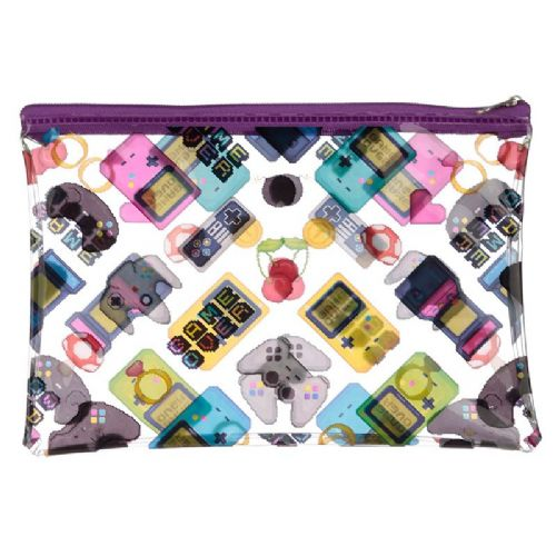 Game Over Design Clear Toiletry Bag / Make-Up Pouch